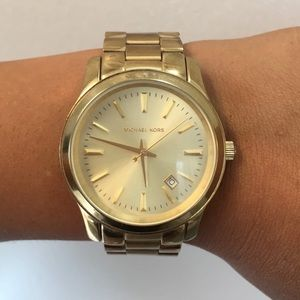Gold Michael Kors watch from Nordstrom